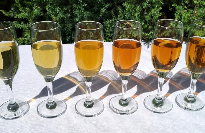 Світлі види вин