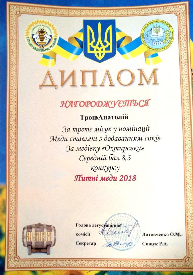 Диплом 3 місце на Всеукраїнському конкурсі